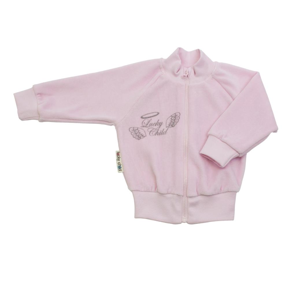 Курточка Lucky Child Ангелочки розовая 80-86