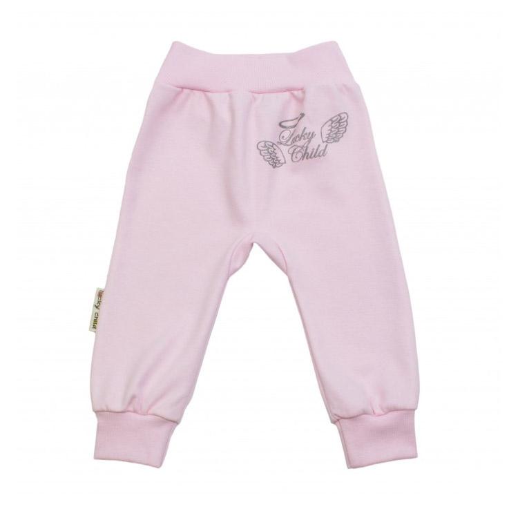 Брюки Lucky Child Ангелочки розовые 56-62