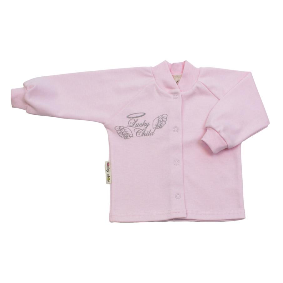 Купить Кофточка Lucky Child Ангелочки розовая 68-74, Розовый, Интерлок, Осень-Зима, Одежда для новорожденных
