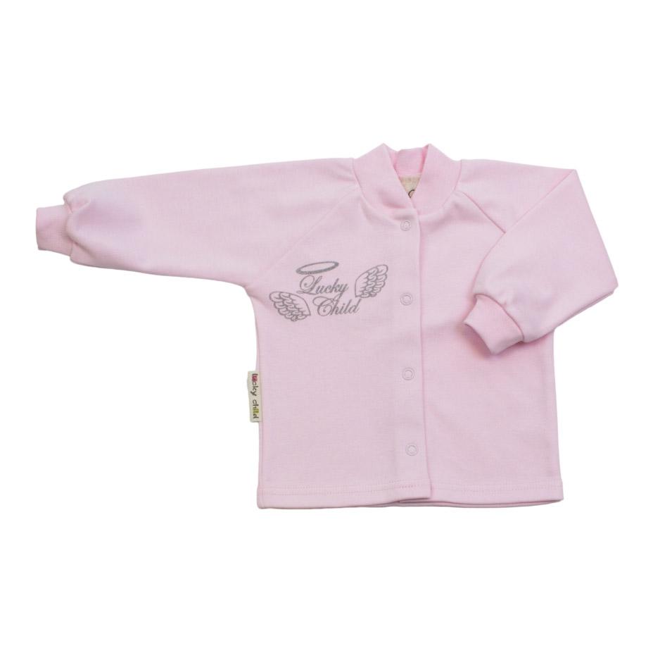 Купить Кофточка Lucky Child Ангелочки розовая 74-80, Розовый, Интерлок, Осень-Зима, Одежда для новорожденных