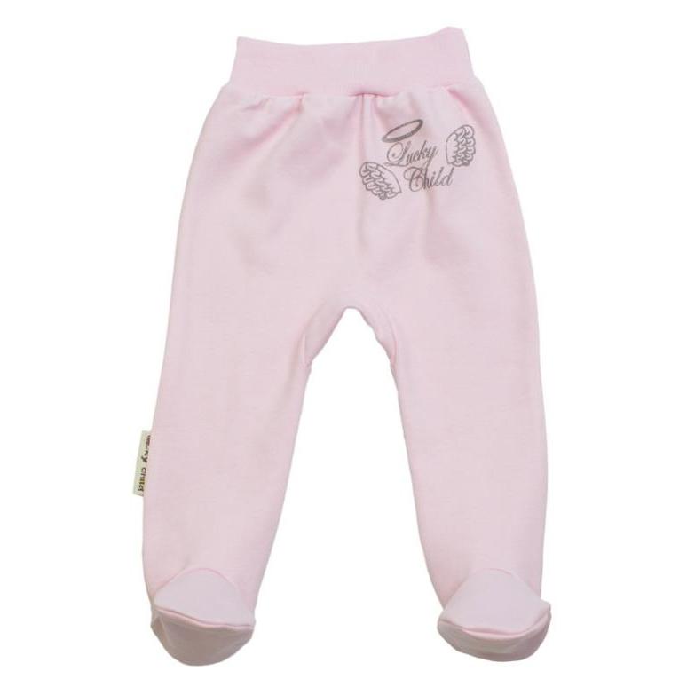 Купить Ползунки Lucky Child Ангелочки розовые 68-74, Розовый, Интерлок, Осень-Зима, Одежда для новорожденных