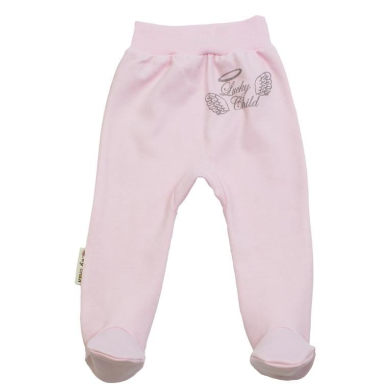 Ползунки Lucky Child Ангелочки розовые 74-80 фото