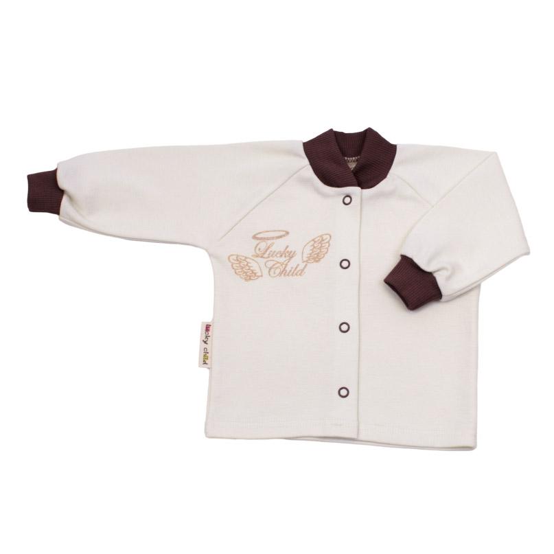Купить Кофточка Lucky Child Ангелочки молочная 68-74, Молочный, Интерлок, Осень-Зима, Одежда для новорожденных