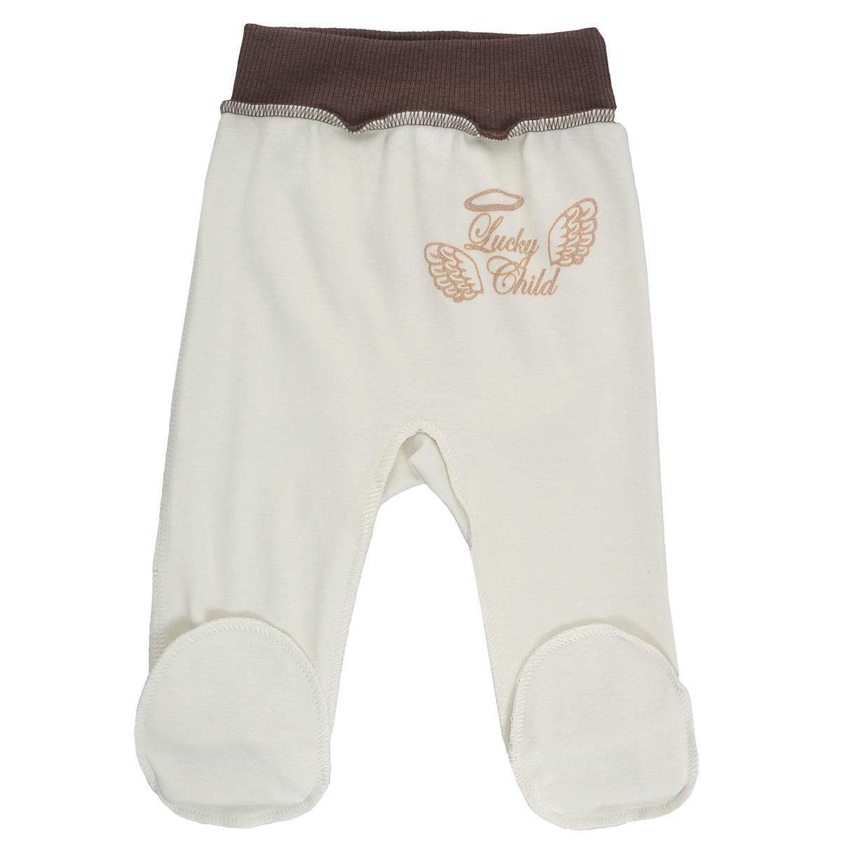 Купить Ползунки Lucky Child Ангелочки молочные 74-80, Молочный, Интерлок, Осень-Зима, Одежда для новорожденных