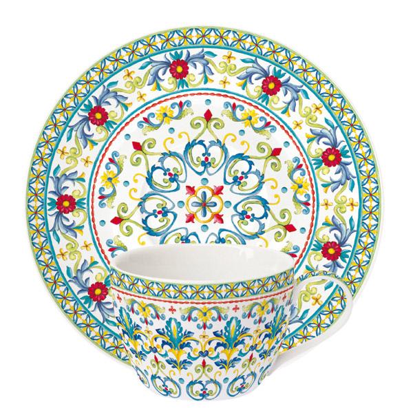Чашка с блюдцем Easy Life Средиземноморье 240 мл недорого