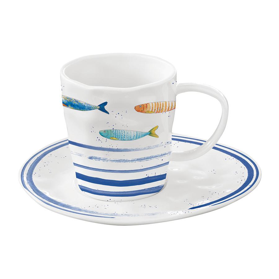 Чашка с блюдцем Easy Life Морской берег 250 мл фото