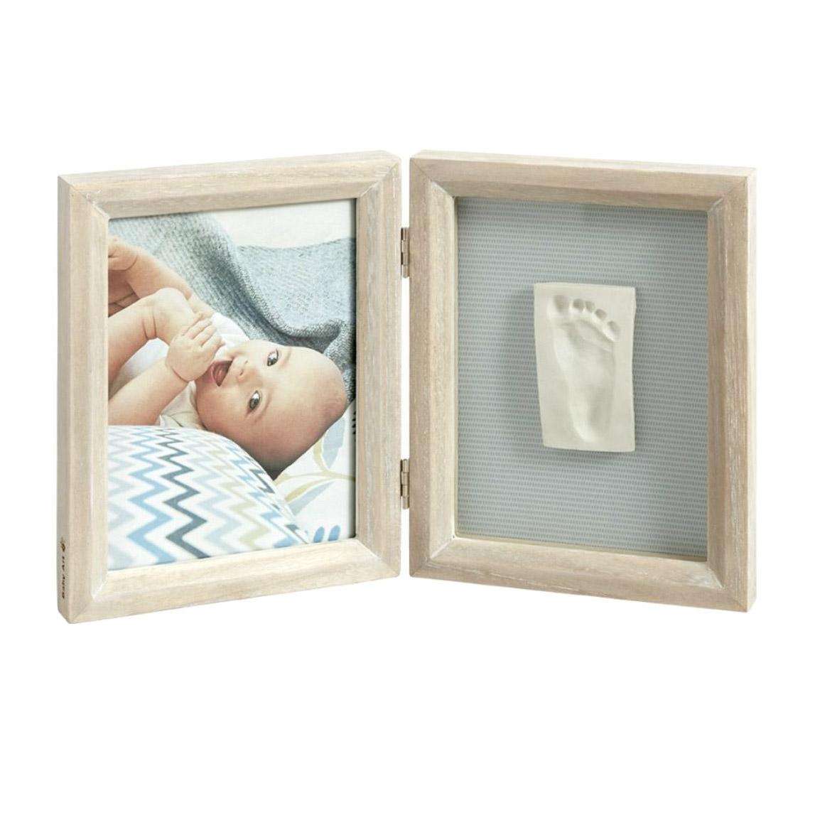 Рамка двойная Baby Art Классика беленое дерево