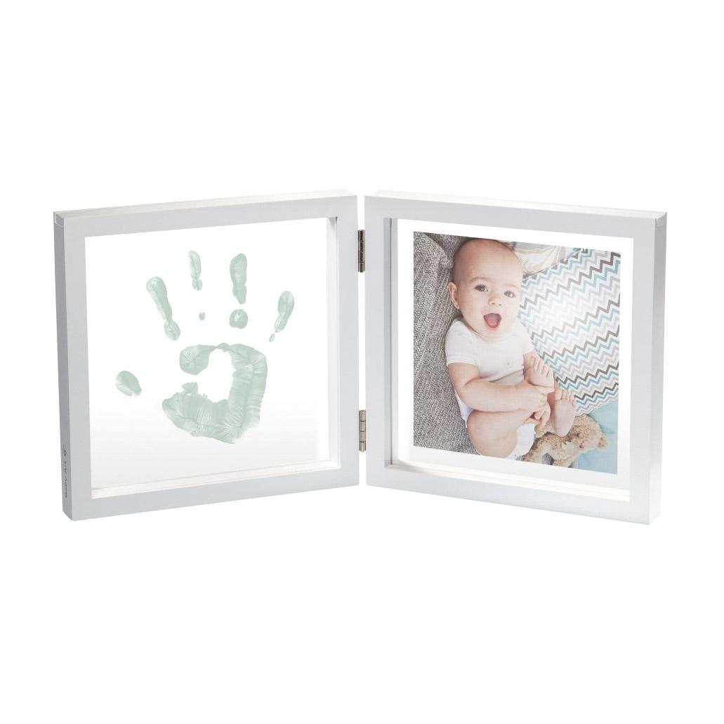 Рамочка двойная Baby Art прозрачная Baby Style с отпечатком
