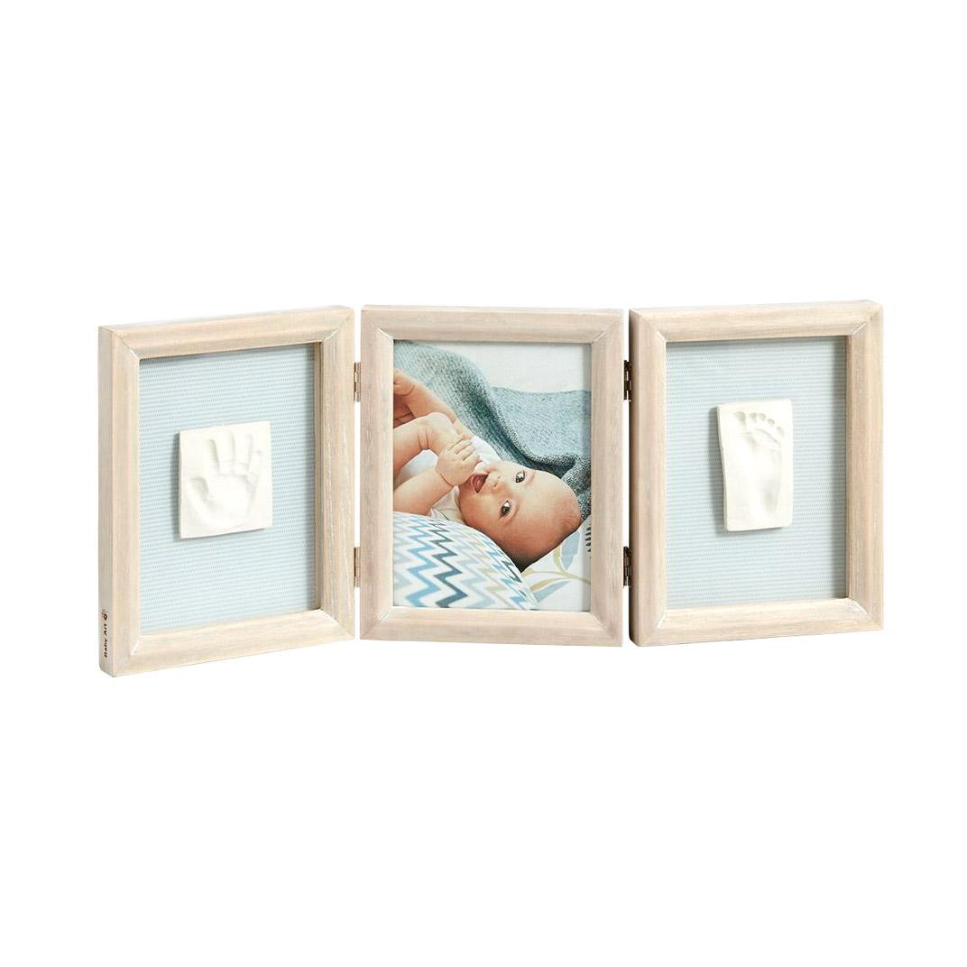 Рамка тройная Baby Art Классика беленое дерево