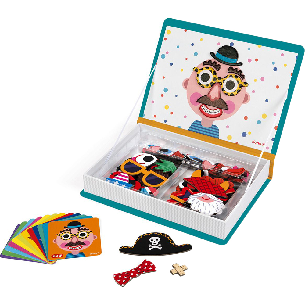 Игровой набор Janod Магнитная книга Смешные мальчишки фото