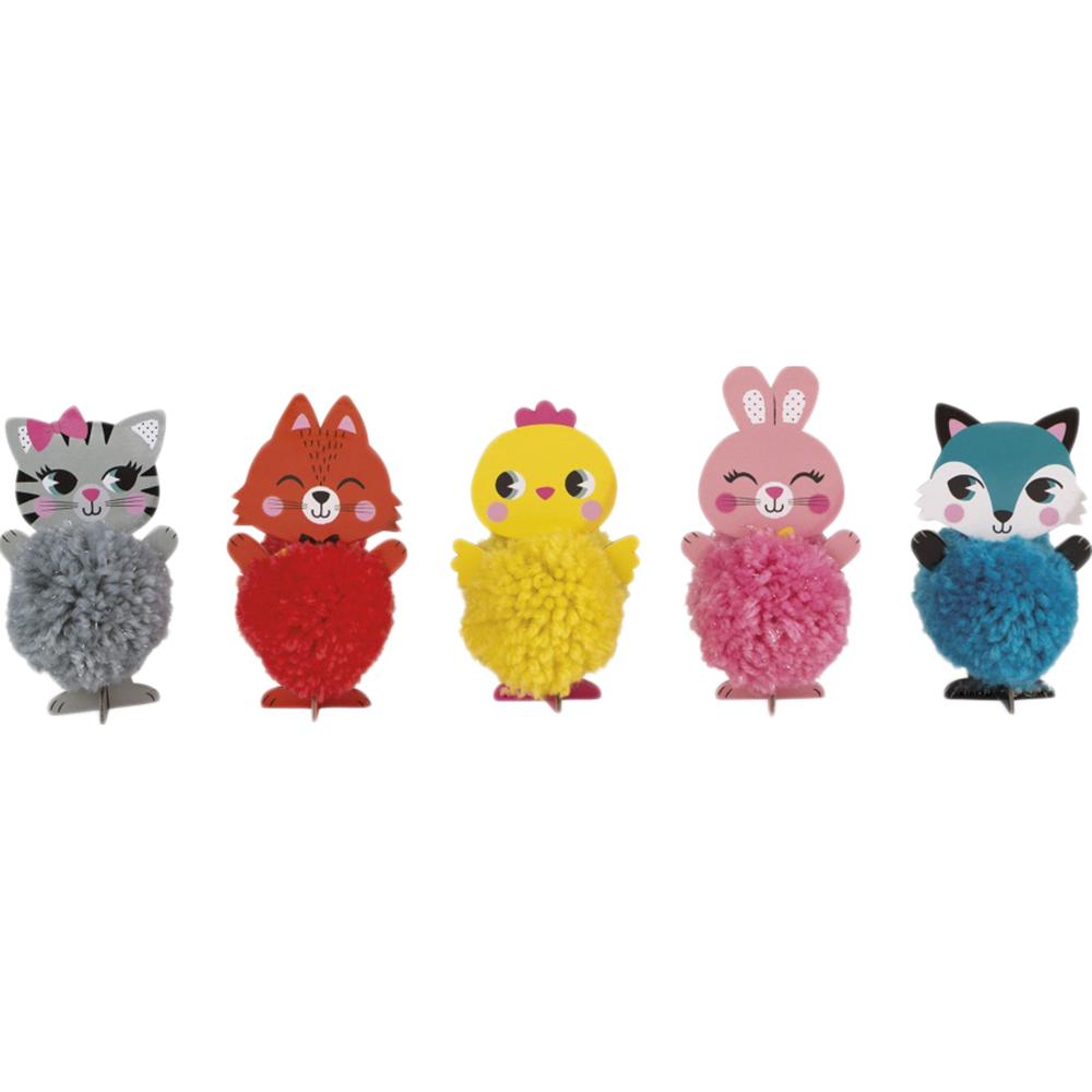 Игровой набор Janod Забавные помпончики Животные