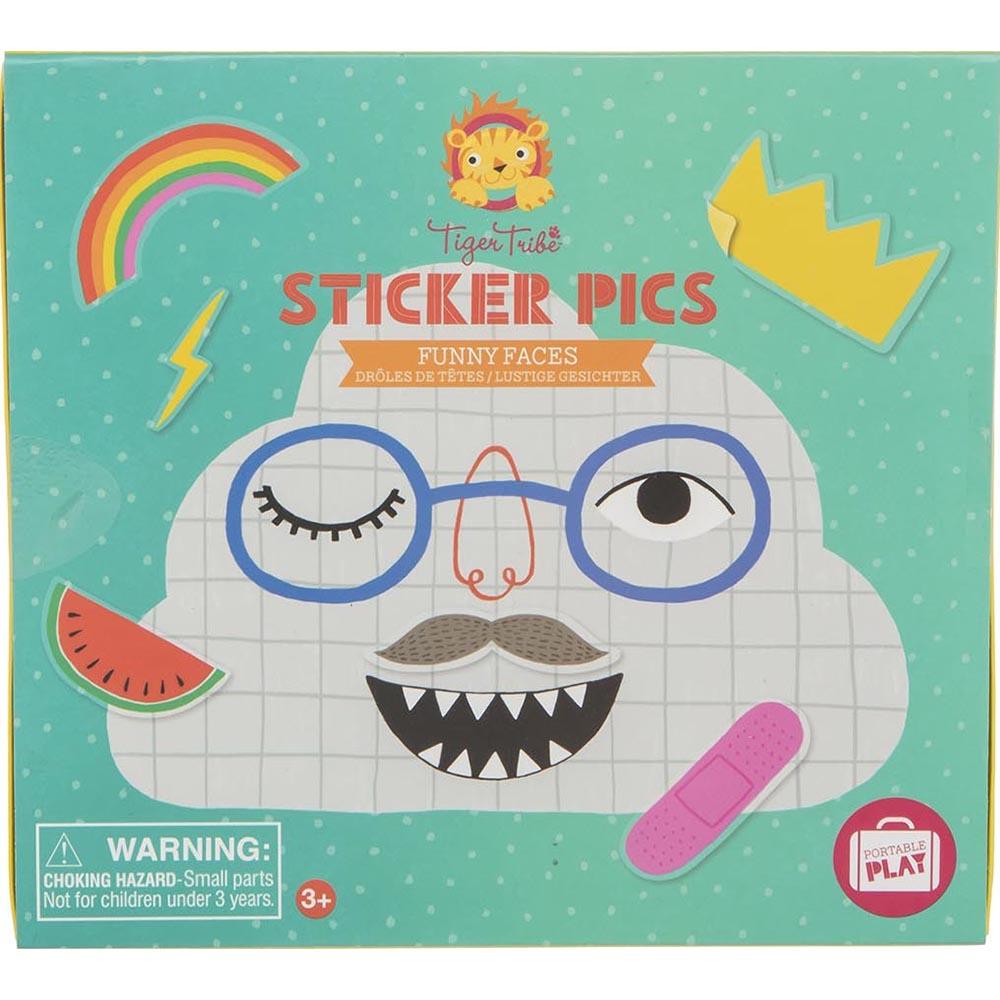 Игровой набор Tiger Tribe Для творчества с наклейками Смешные лица