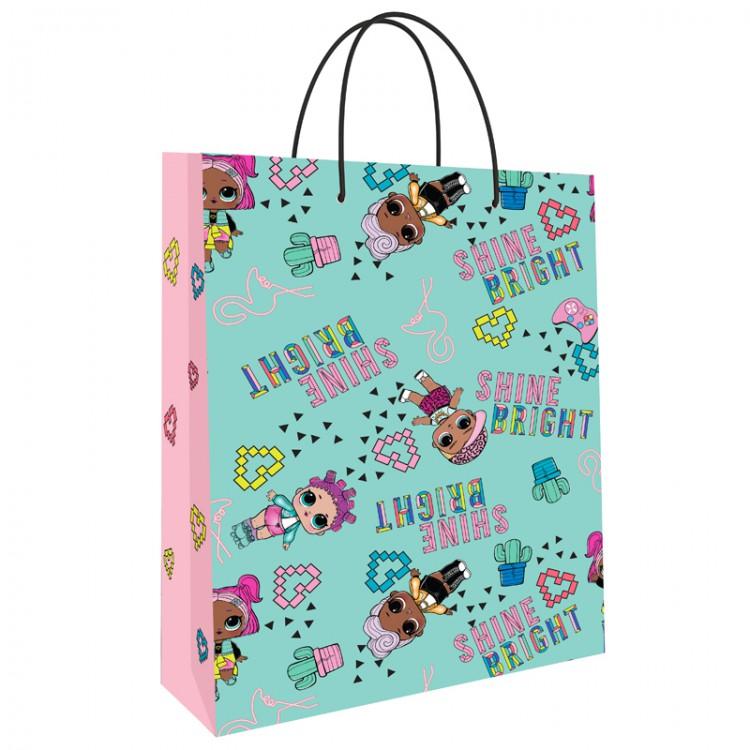 Фото - Пакет подарочный большой ND Play Lol мятный с розовым пакет подарочный nd play lol 25 х 35 х 10 см мятный розовый