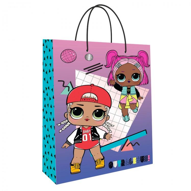 Фото - Пакет подарочный большой ND Play Lol розовый-фиолетовый пакет подарочный nd play lol 25 х 35 х 10 см мятный розовый
