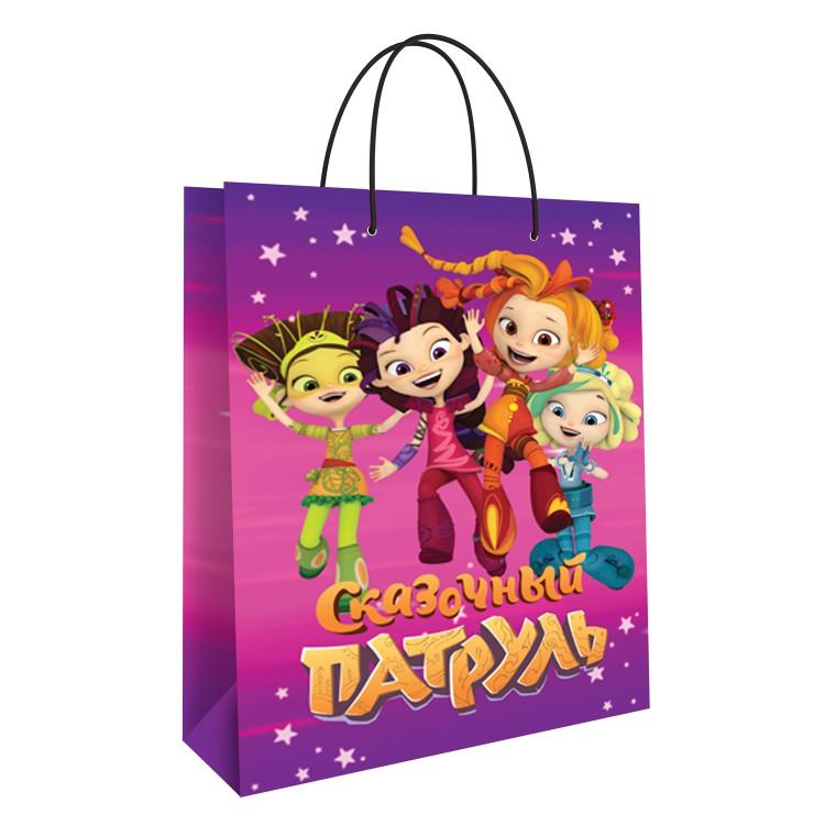 Пакет подарочный большой ND Play Сказочный патруль розовый недорого