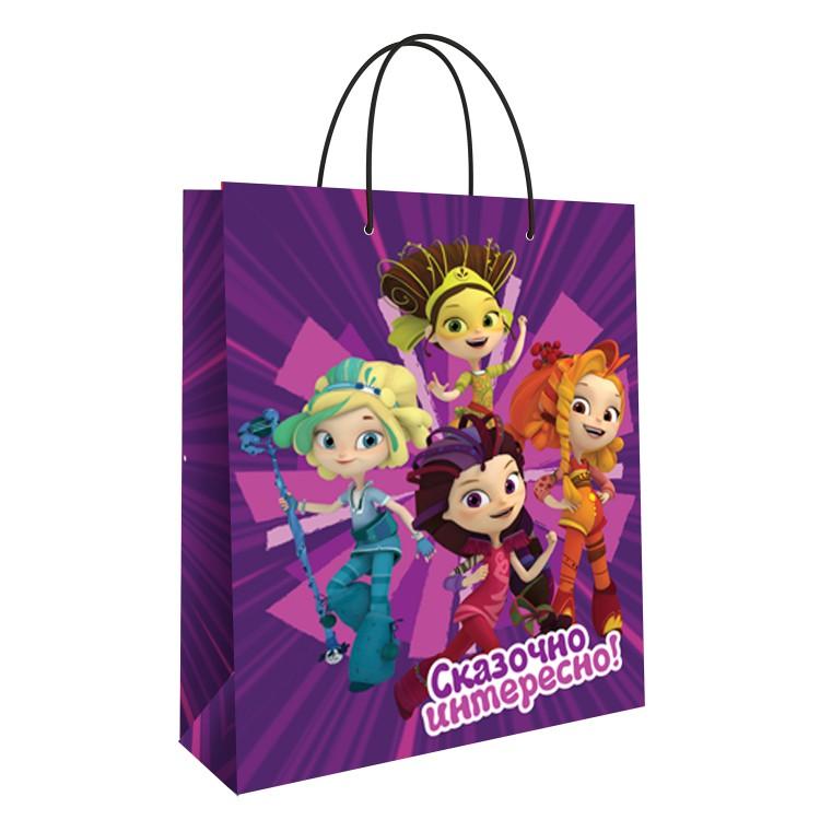 Пакет подарочный малый ND Play Сказочный патруль фиолетовый недорого