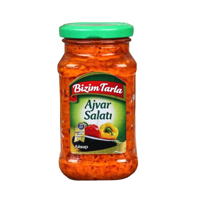 Салат Bizim Tarla Айвар, 315 г соленья из красных томатов bizim tarla 2 кг
