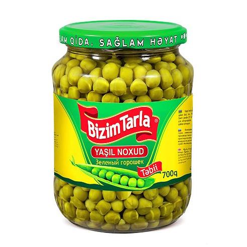 Горошек зеленый Bizim Tarla 700 г