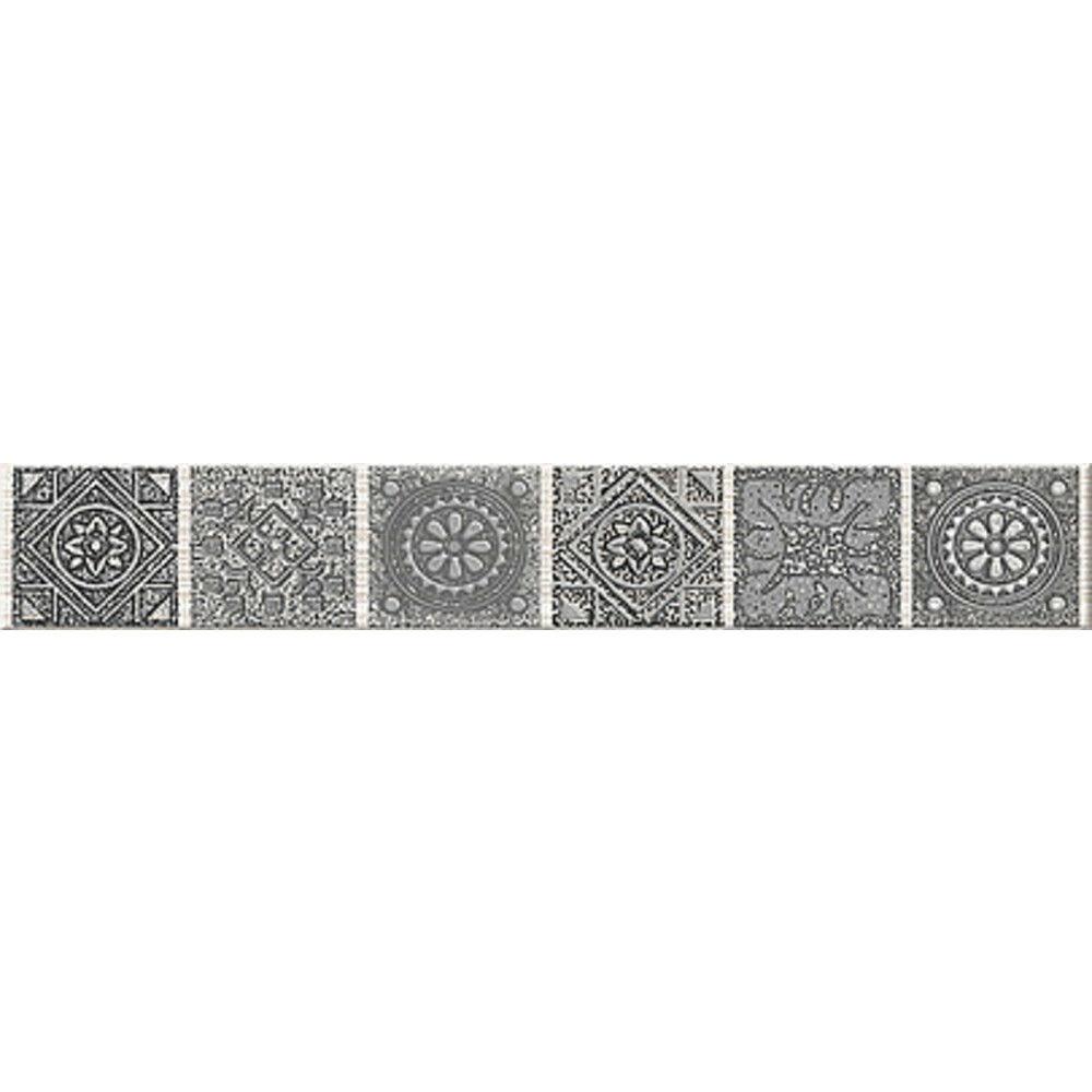 Бордюр Azori Grazia Grey Nefertiti 6,2Х40,5 см бордюр azori arte