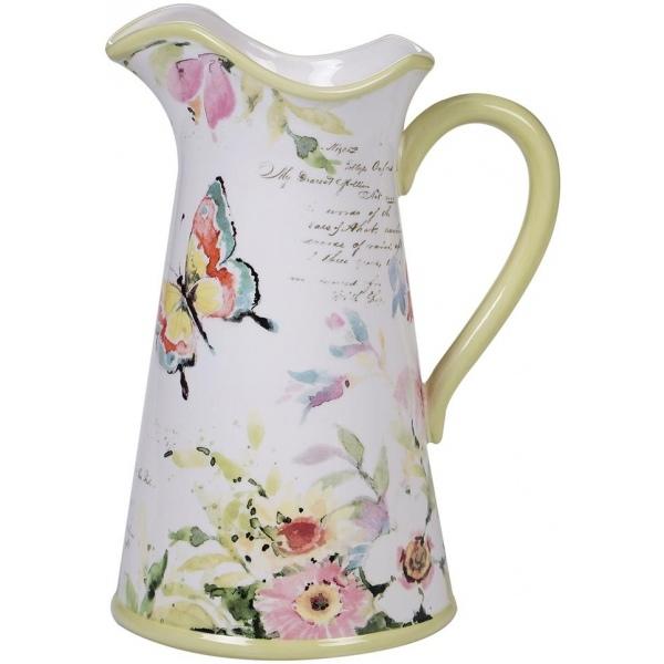 Купить Кувшин Certified Intl Весенний луг 2, 8 л, Certified International, Китай, белый, салатовый, керамика