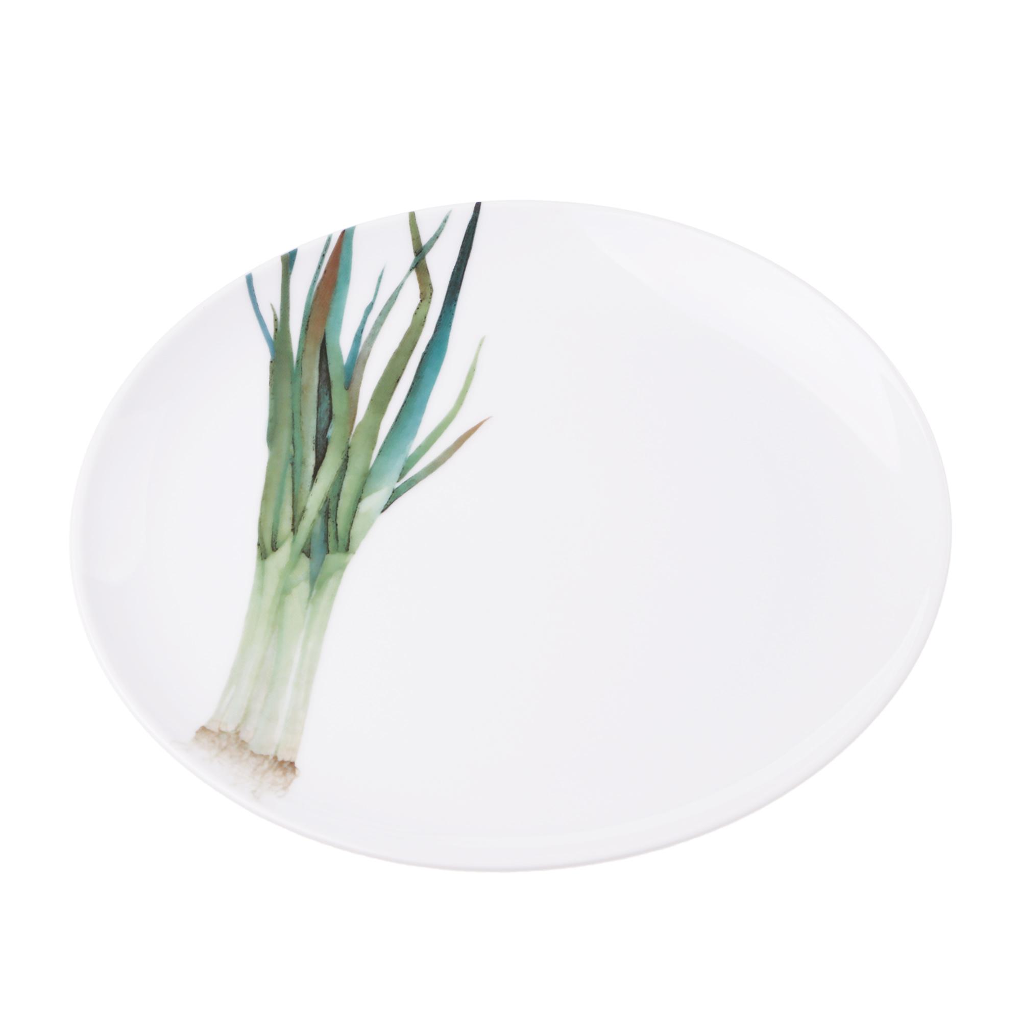 Тарелка закусочная Noritake зеленый лук 24 см тарелка закусочная noritake брум стрит 22см
