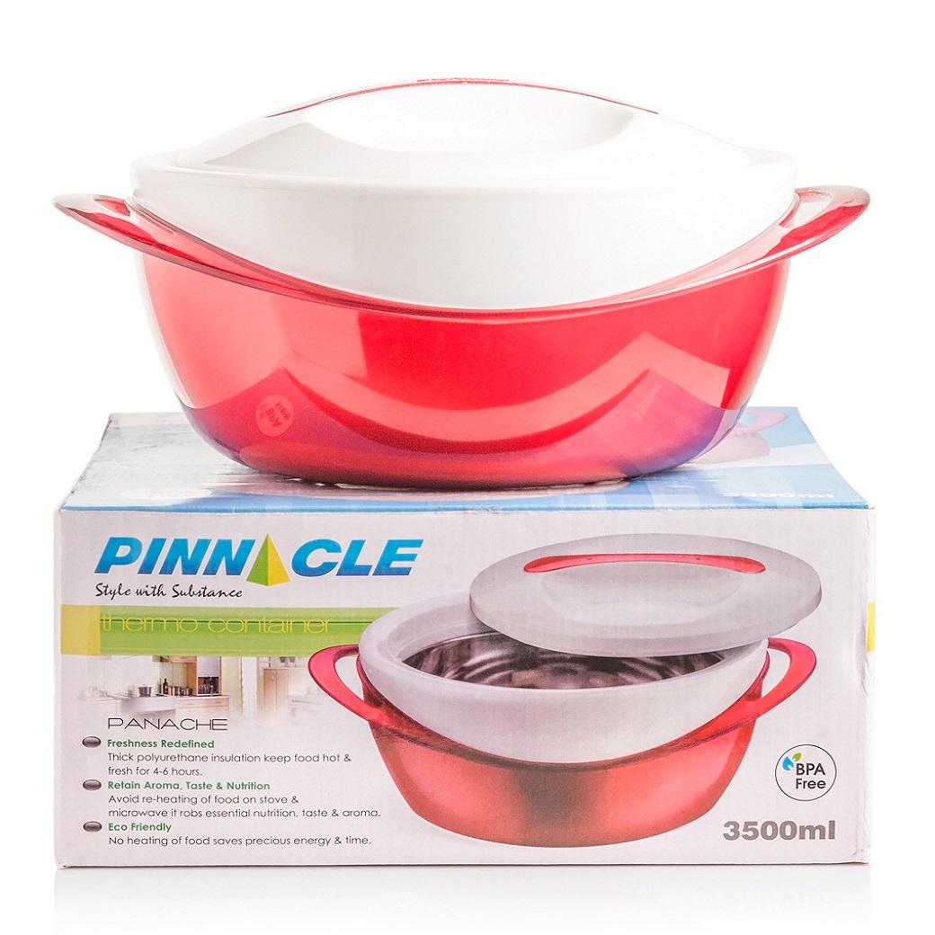 Купить Термокастрюля Pinnacle 3, 5 л, Индия, красный, пластик, сталь нержавеющая