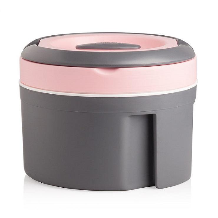 Купить Термокастрюля Pinnacle 2, 5 л, Индия, розовый, серый, пластик, сталь нержавеющая