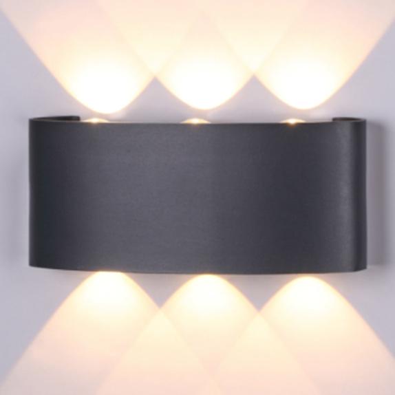 Купить Светильник настенный Elvan ASN-1514-6W-WW-BK уличный