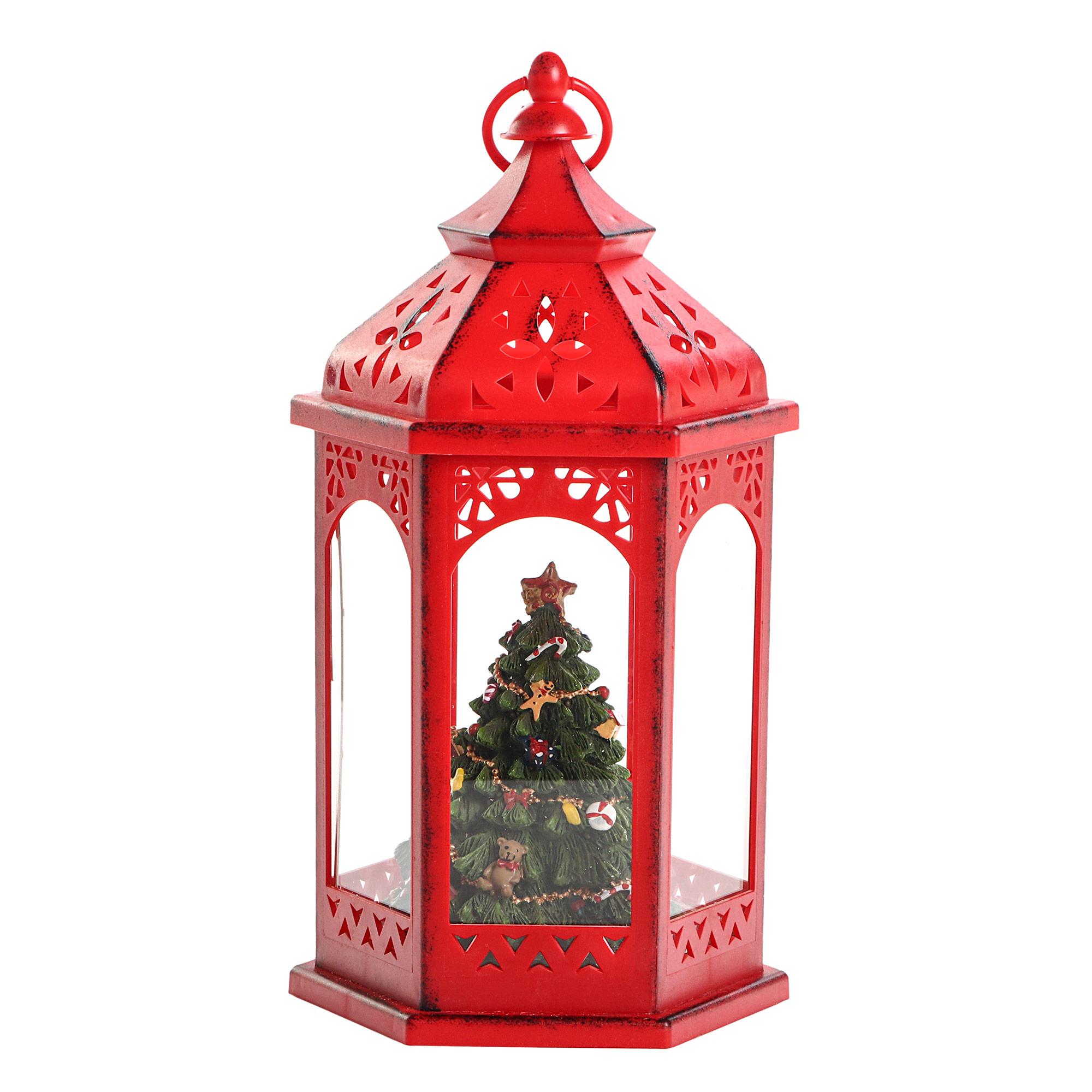 Фонарь подвесной новогодний Alska красный