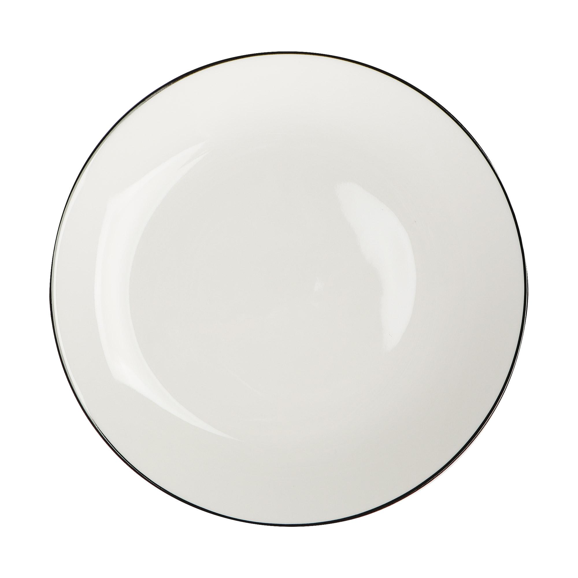 Набор тарелок Hankook Арома блэк 22 см 6 шт фото