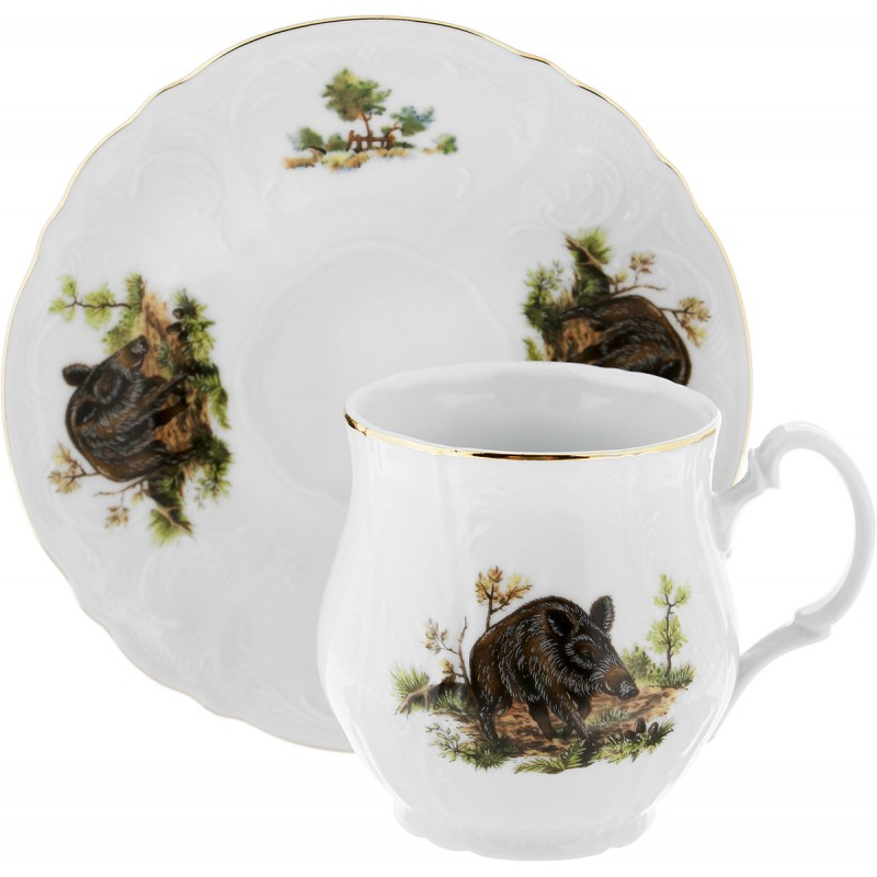 Чашка с блюдцем Thun 1794 Охотничьи сюжеты 250 мл чашка с блюдцем весна windsor