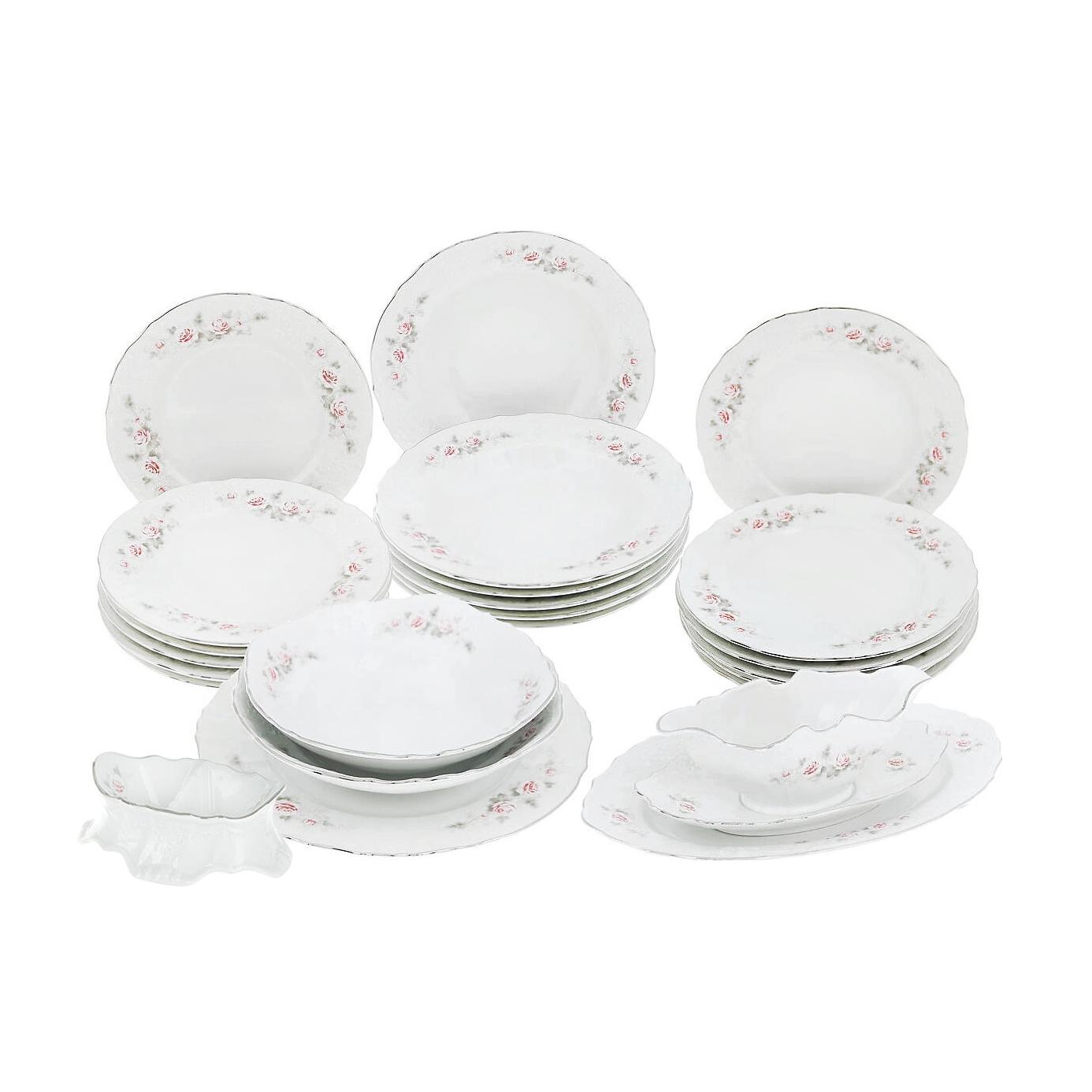 Сервиз столовый Thun 1794 6 персон 24 предмета Бледные розы
