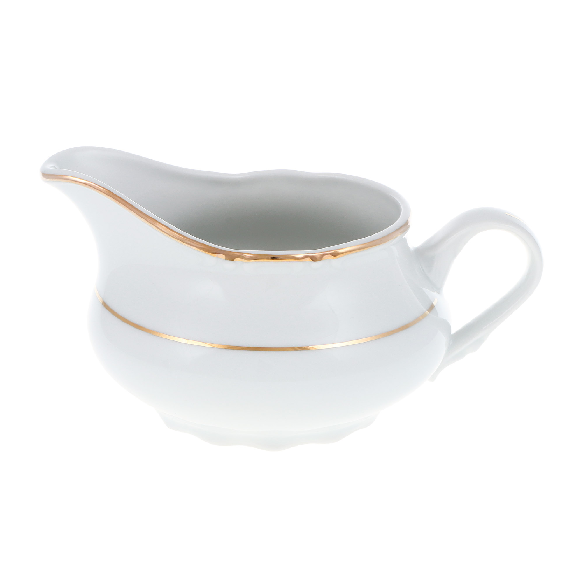 Молочник низкий 350 мл Thun1794 декор отводка золото фото