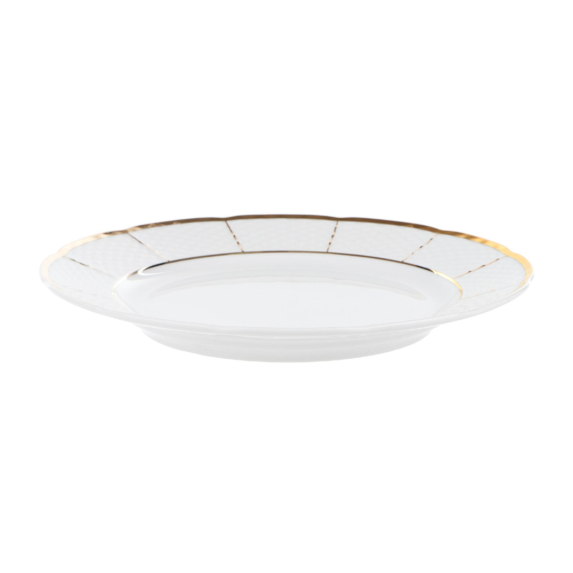 Тарелка мелкая 24 см; Менуэт, декор Отводка золото, золотые держатели Thun1794 фото