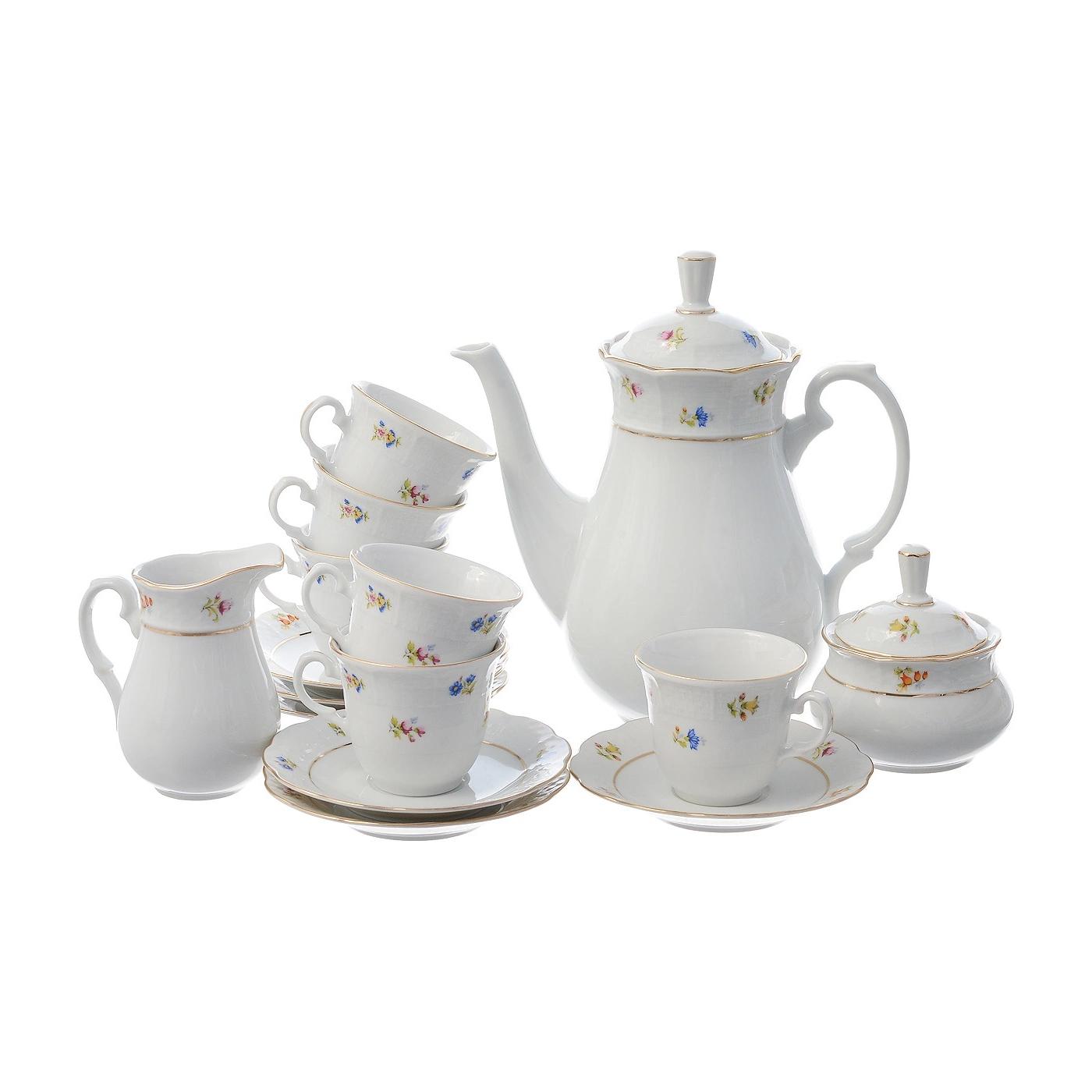 Сервиз кофейный Thun 1794 6 персон 17 предметов Natalie