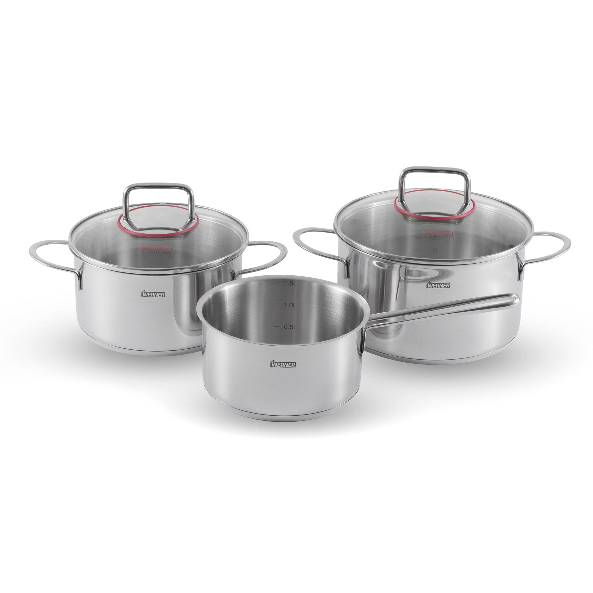 Набор посуды Werner Como 5 предметов 1,7/2,4/3,6 л набор посуды werner ingrid 8 предметов