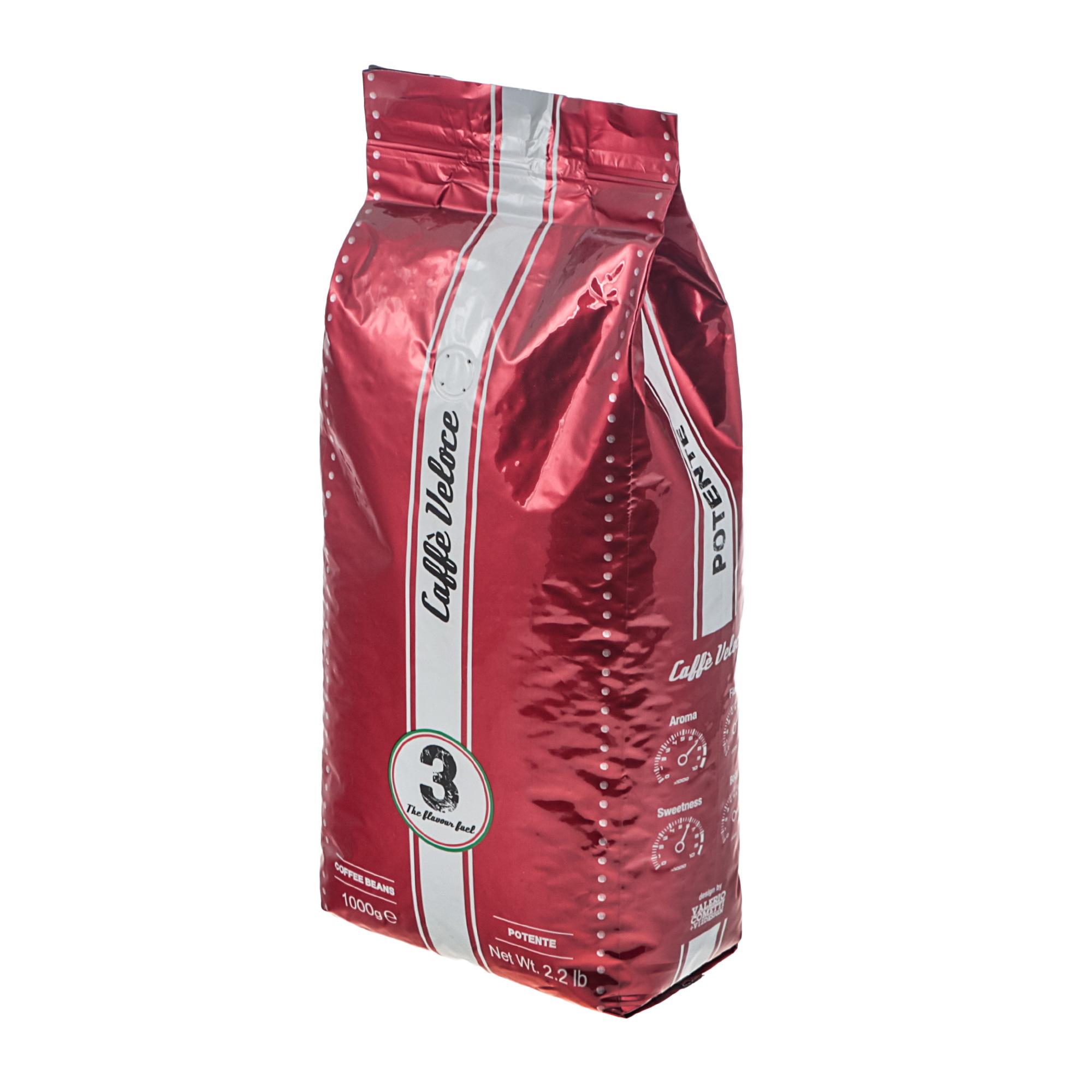 Кофе в зернах Caffe Veloce Potente 1 кг кофе в зернах piazza del caffe