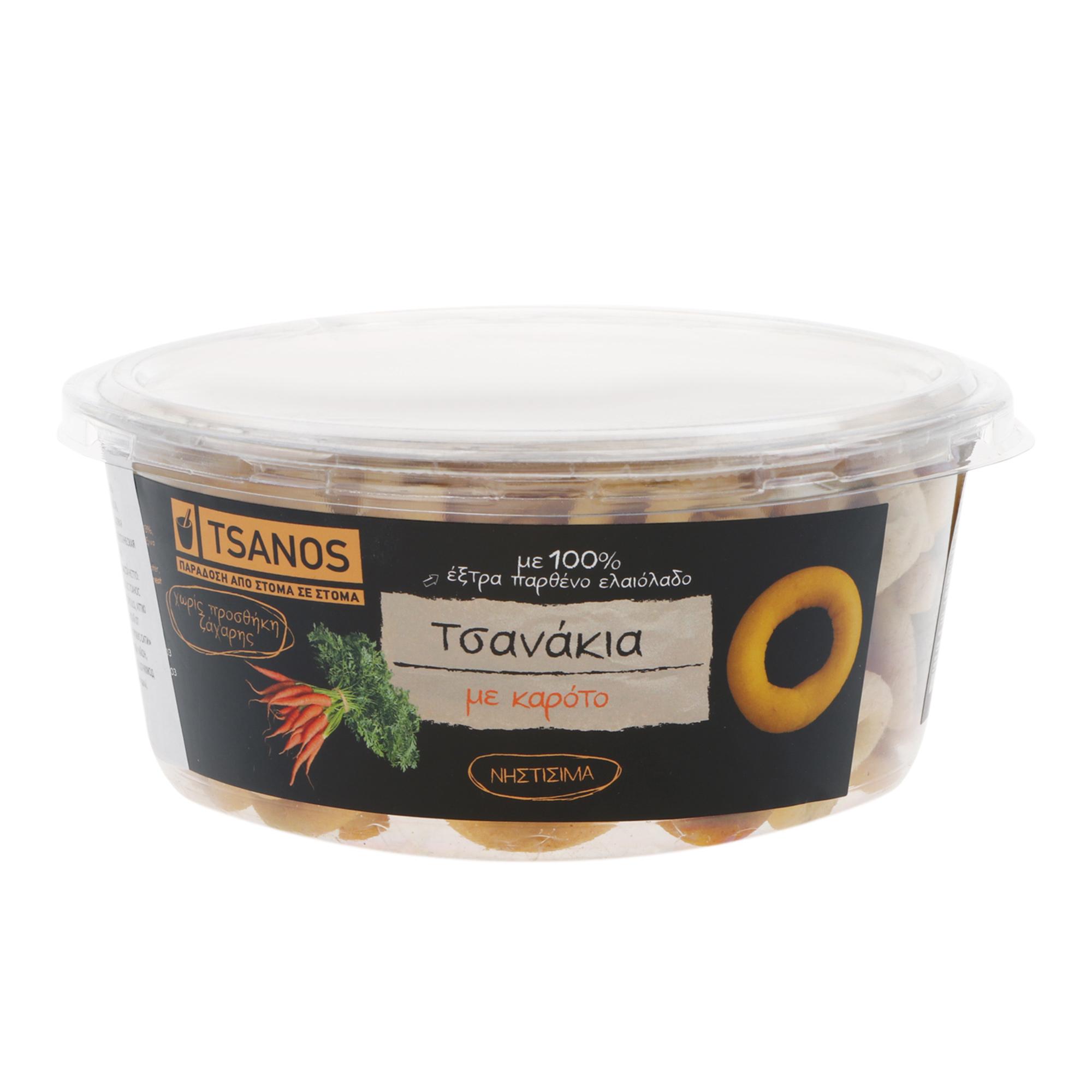 Фото - Хлебные колечки Tsanos мини с морковью 240 г хлебные колечки tsanos мультизерновые 70 г