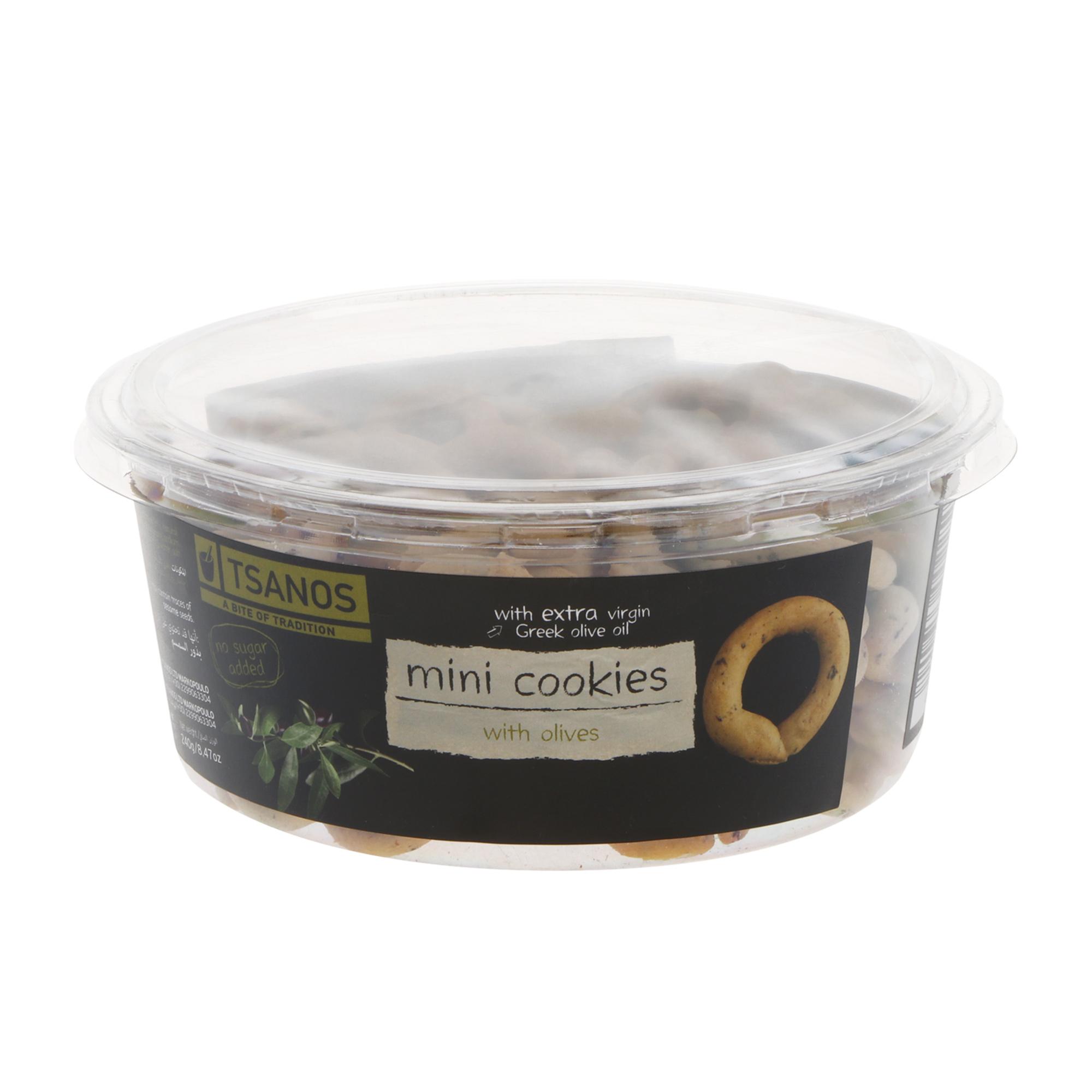 Фото - Хлебные колечки Tsanos мини с оливками 240 г хлебные колечки tsanos мультизерновые 70 г