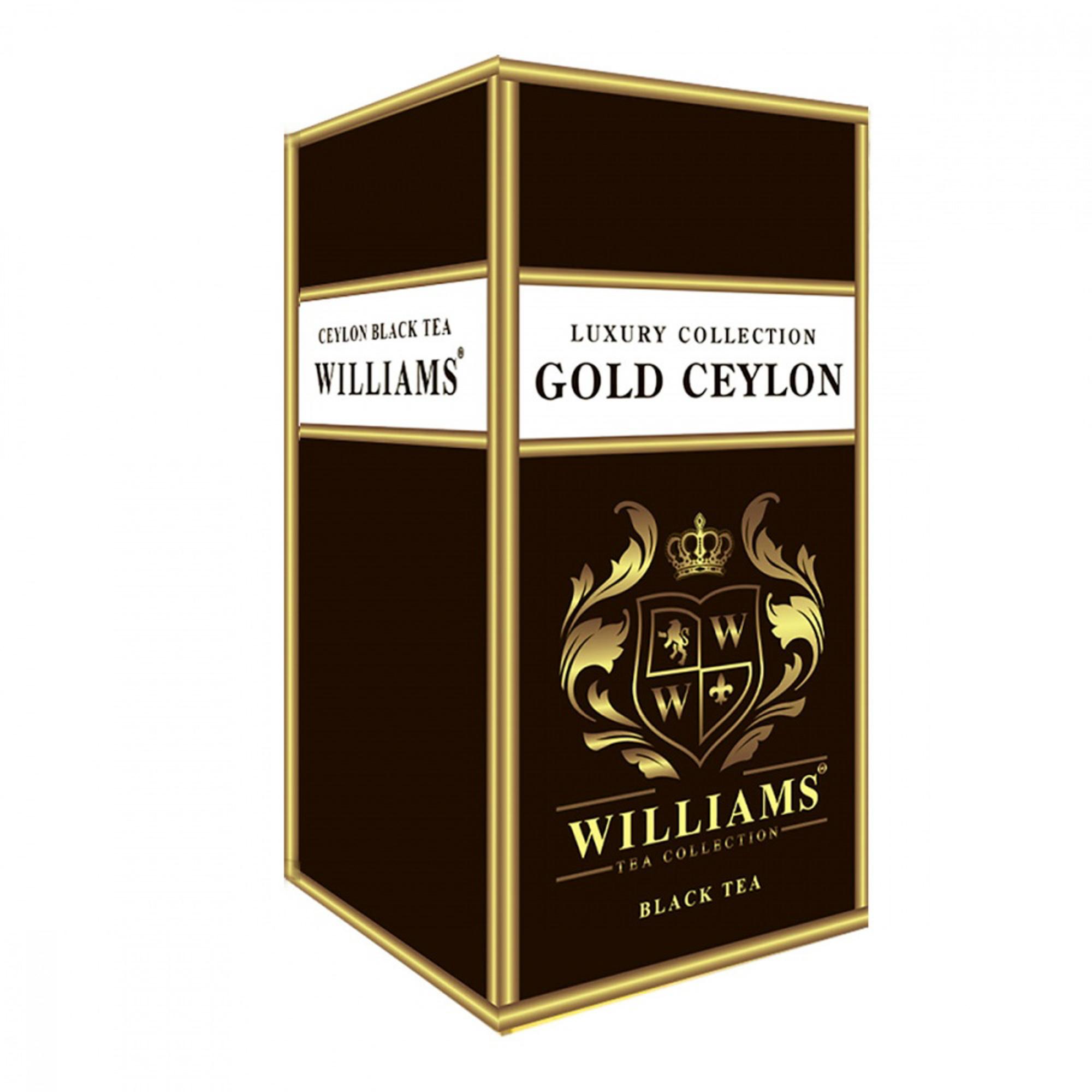 Чай черный Williams Gold Ceylon листовой 150 г чай черный teekanne черная смородина гранат листовой 150 г