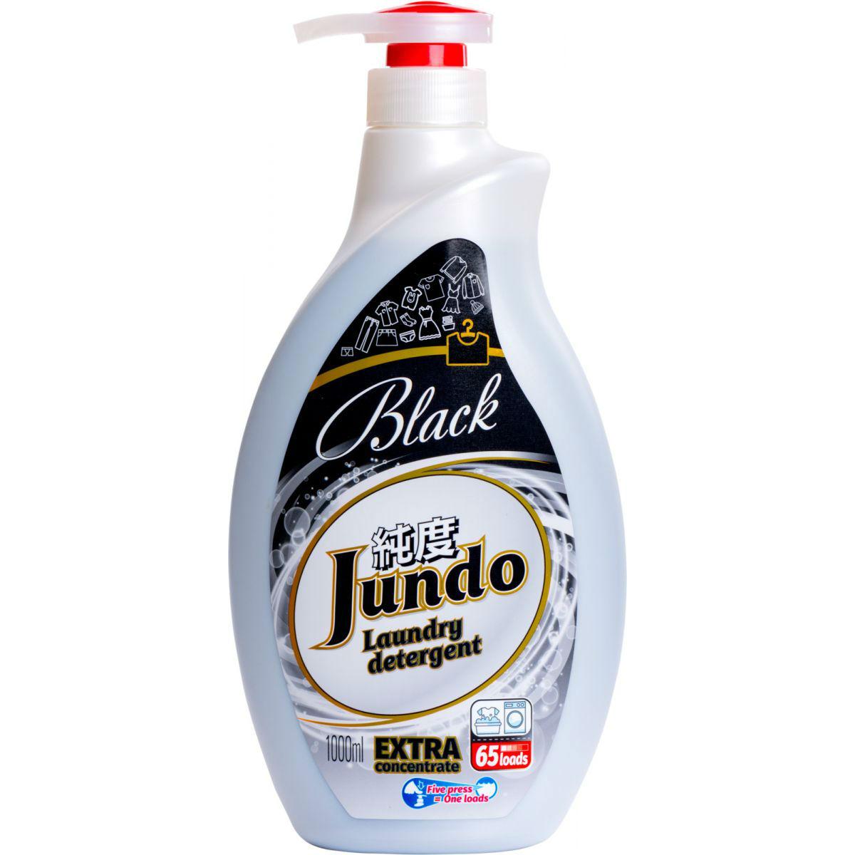 Купить Гель для стирки Jundo Black 1 л, жидкое средство для стирки, Россия