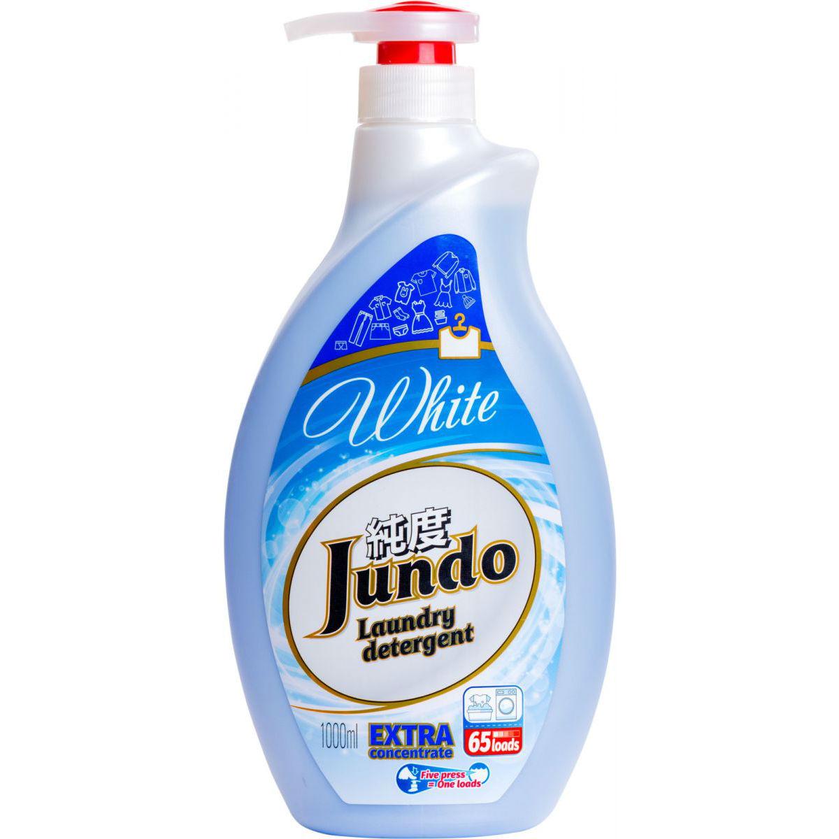 Купить Гель для стирки Jundo White 1 л, жидкое средство для стирки, Россия