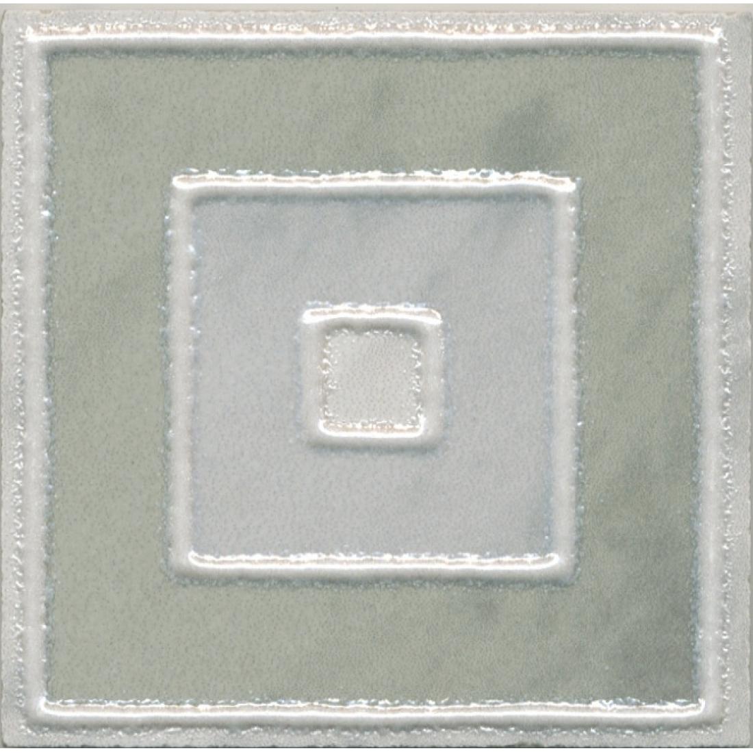 Купить Вставка Kerama Marazzi Алькала 7x7 см AD/A462/SG9321, декор, Россия, белый, зеленый, керамика