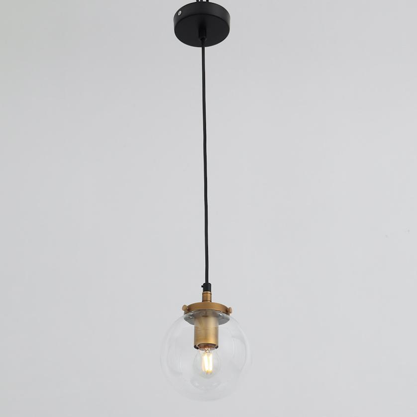Светильник подвесной Elvan 00171-1P BK+GL+CLEAR