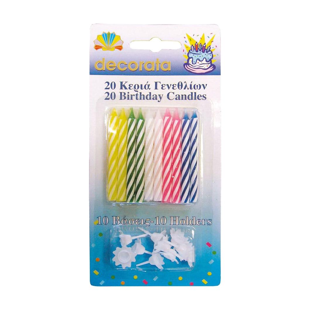 Свечи для праздничного торта Procos с держателями 20 шт procos s a пакеты подарочные procos самолеты 6 шт