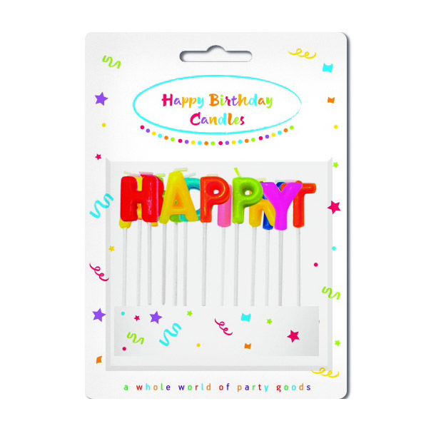 Свечи-буквы Procos для торта Party Essentials Happy Birthday