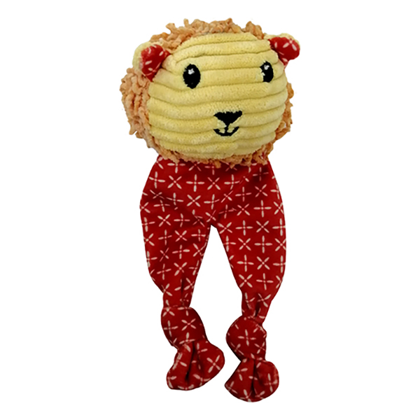Купить Игрушка для собак CHOMPER Mix and Match Лев с длинными лапами и пищалкой 18 см, мягкая игрушка, пищалка, Китай, коричневый, красный, пластик, полиэстер