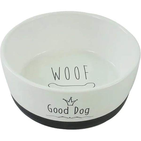 Миска для животный Foxie Good Dog белая 360 мл.