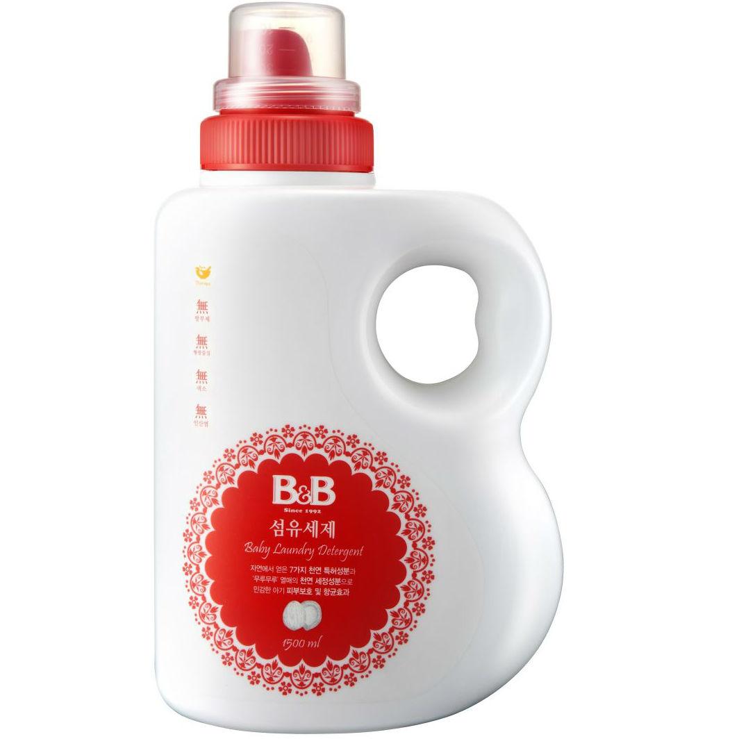 Купить Гель для стирки B&B для детского белья 1500 мл., жидкое средство для стирки, Южная Корея