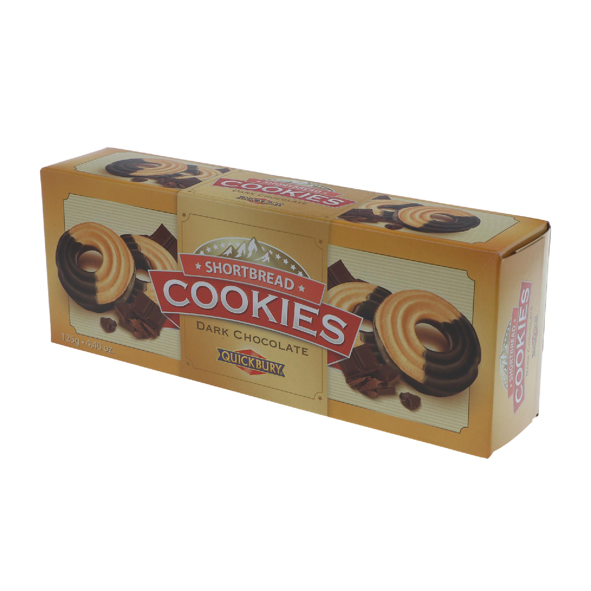 Печенье песочное Quickbury с темным шоколадом 125 г недорого